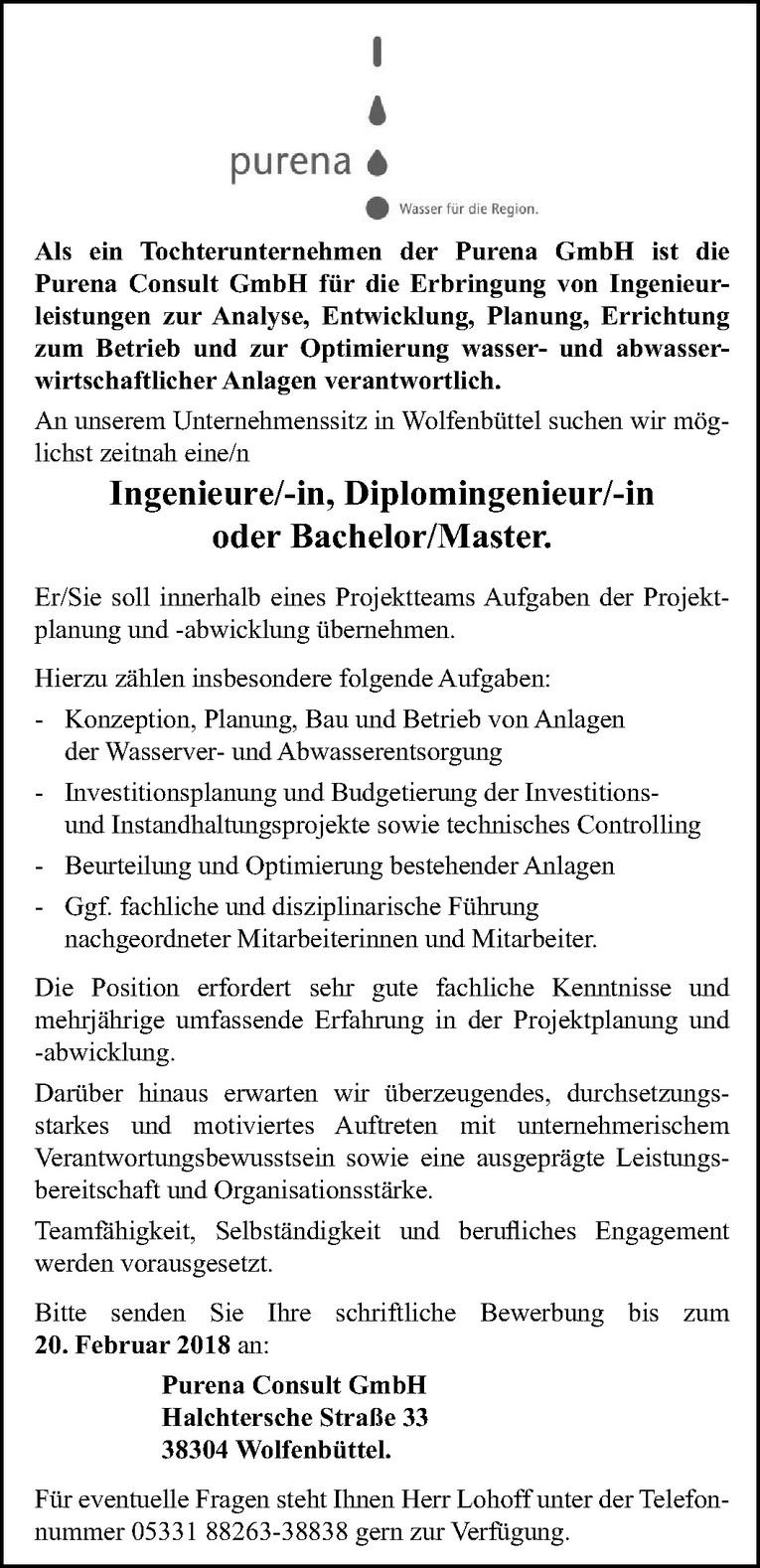 Ingenieure / Diplomingenieur / Bachelor / Master