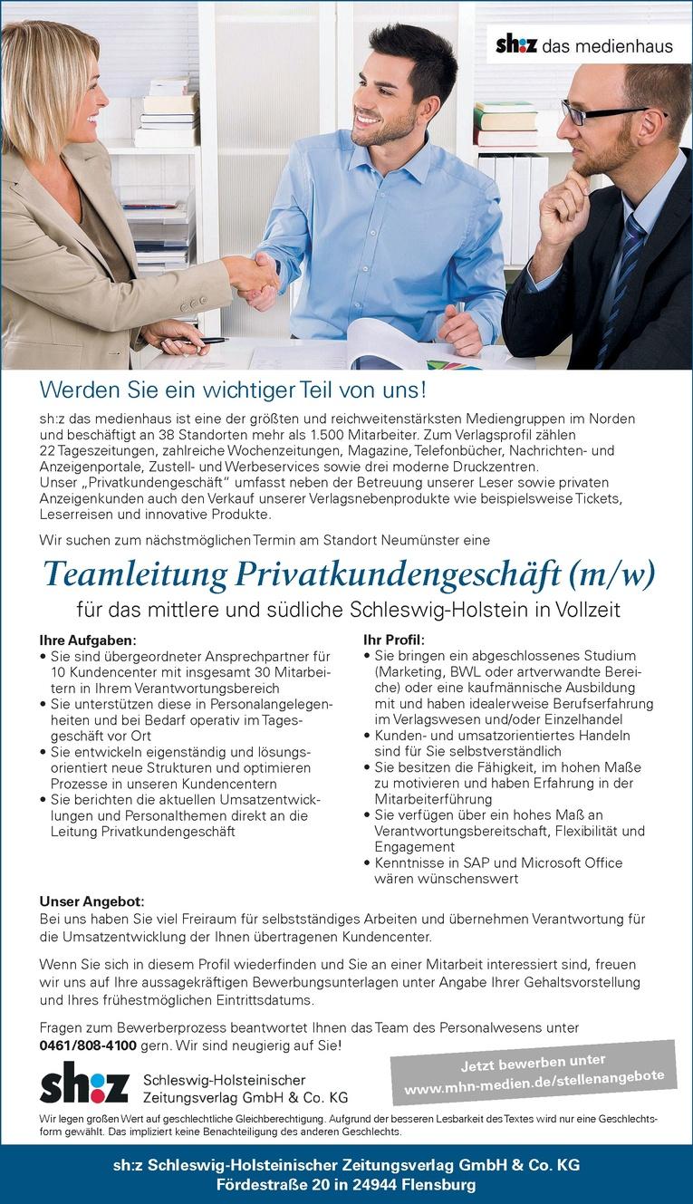 Teamleitung Privatkundengeschäft (m/w)
