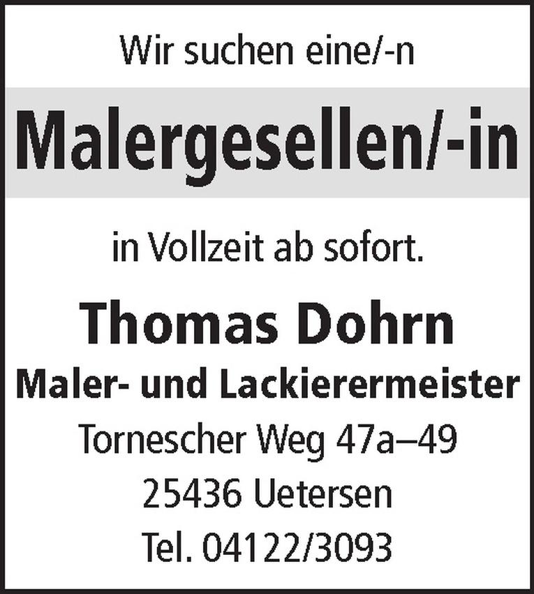 Malergesellen/-in