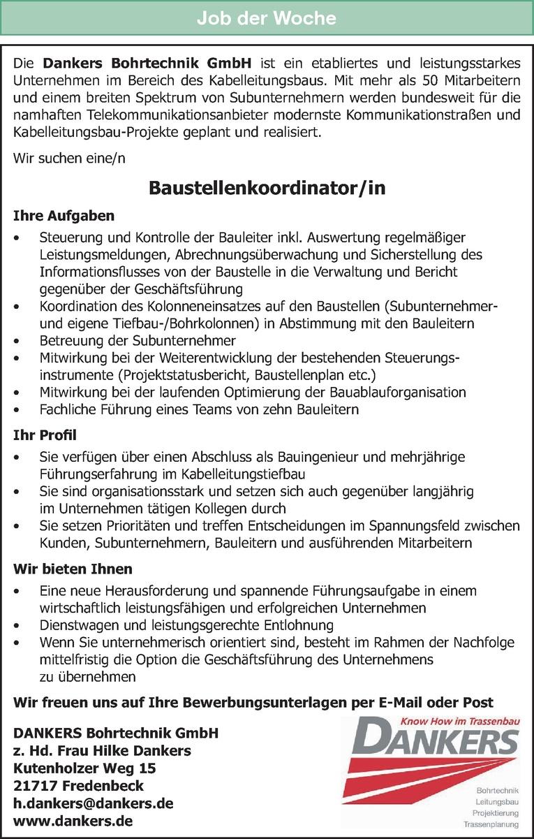 Baustellenkoordinator/in