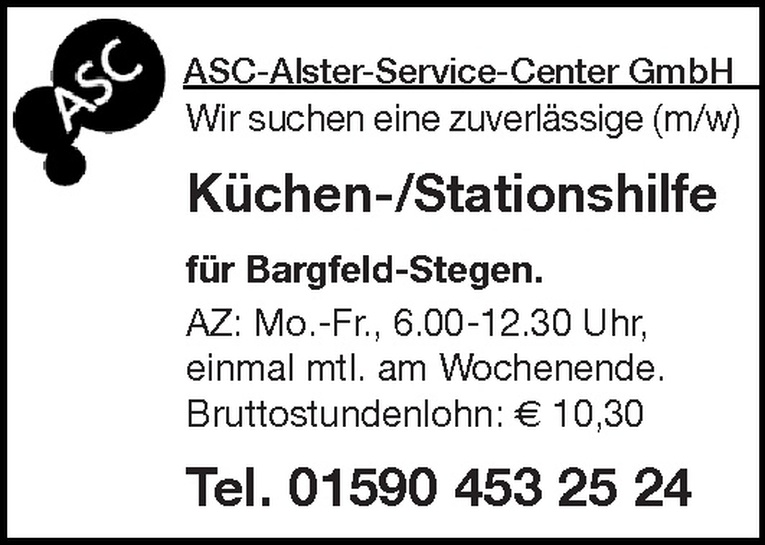 Küchen-/Stationshilfe (m/w)