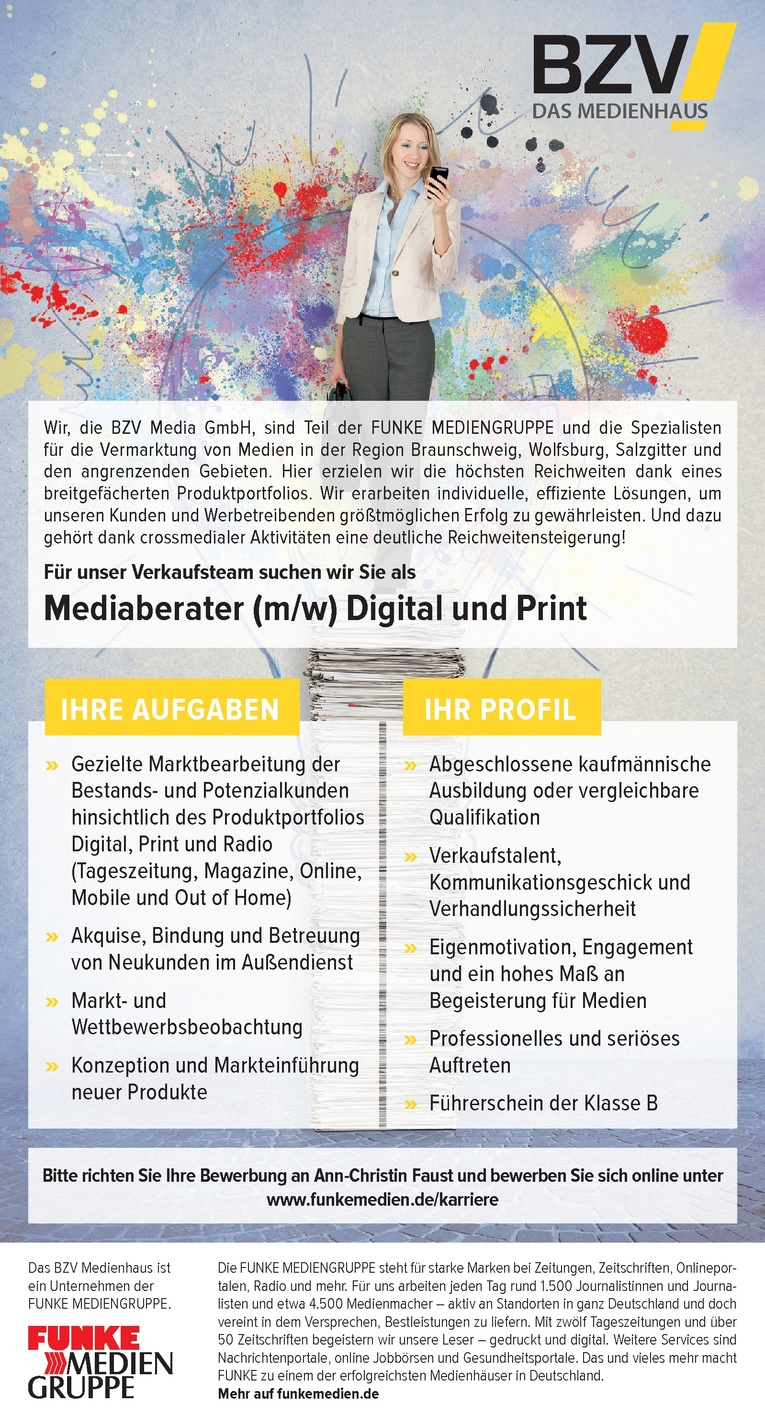 Mediaberater (m/w) Digital und Print
