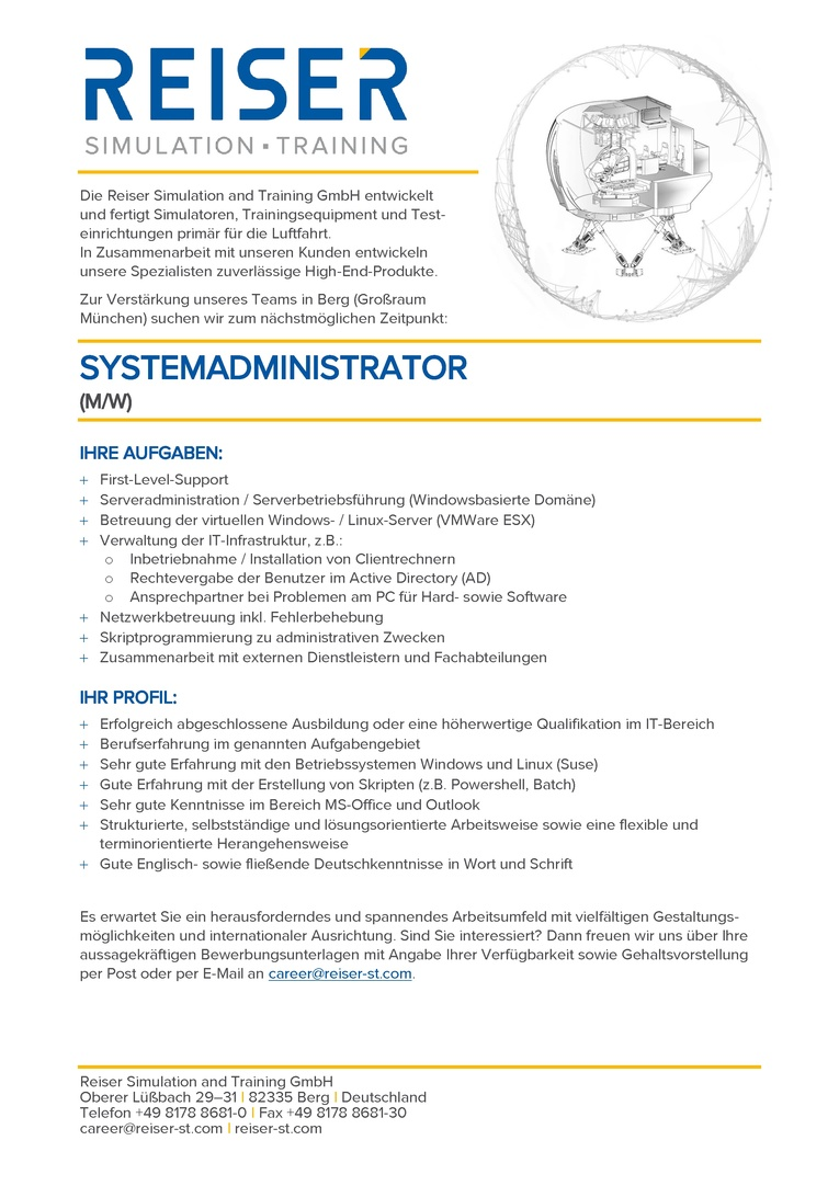 Systemadministrator (m/w)