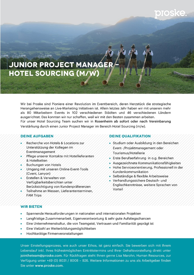 Junior Project Manager - Hotel Sourcing (m/w)