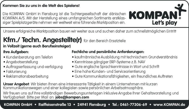 Kfm./ Techn. Angestellte(r)