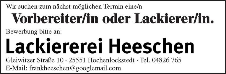 Vorbereiter/in / Lackierer/in