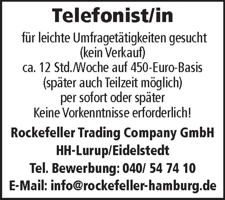 Telefonist/in
