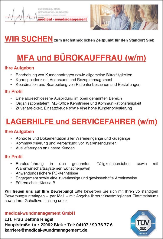 LAGERHILFE und SERVICEFAHRER (w/m)