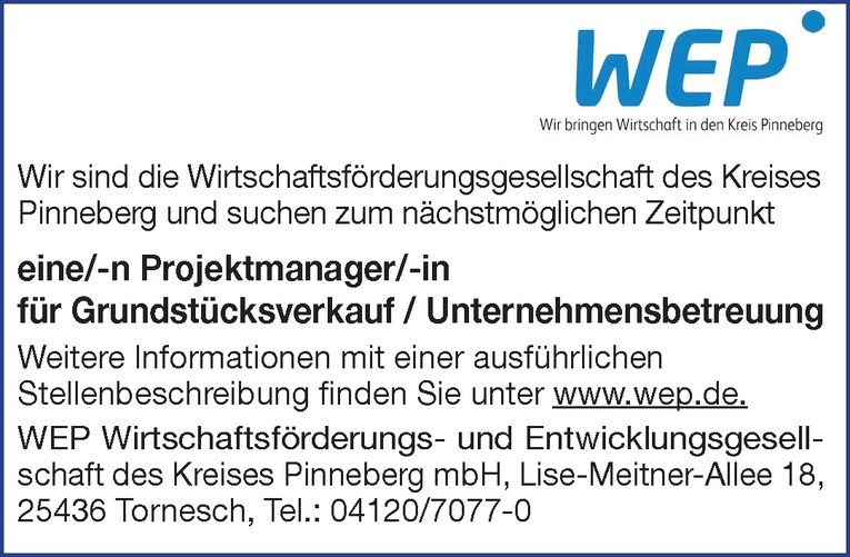 Projektmanager/-in