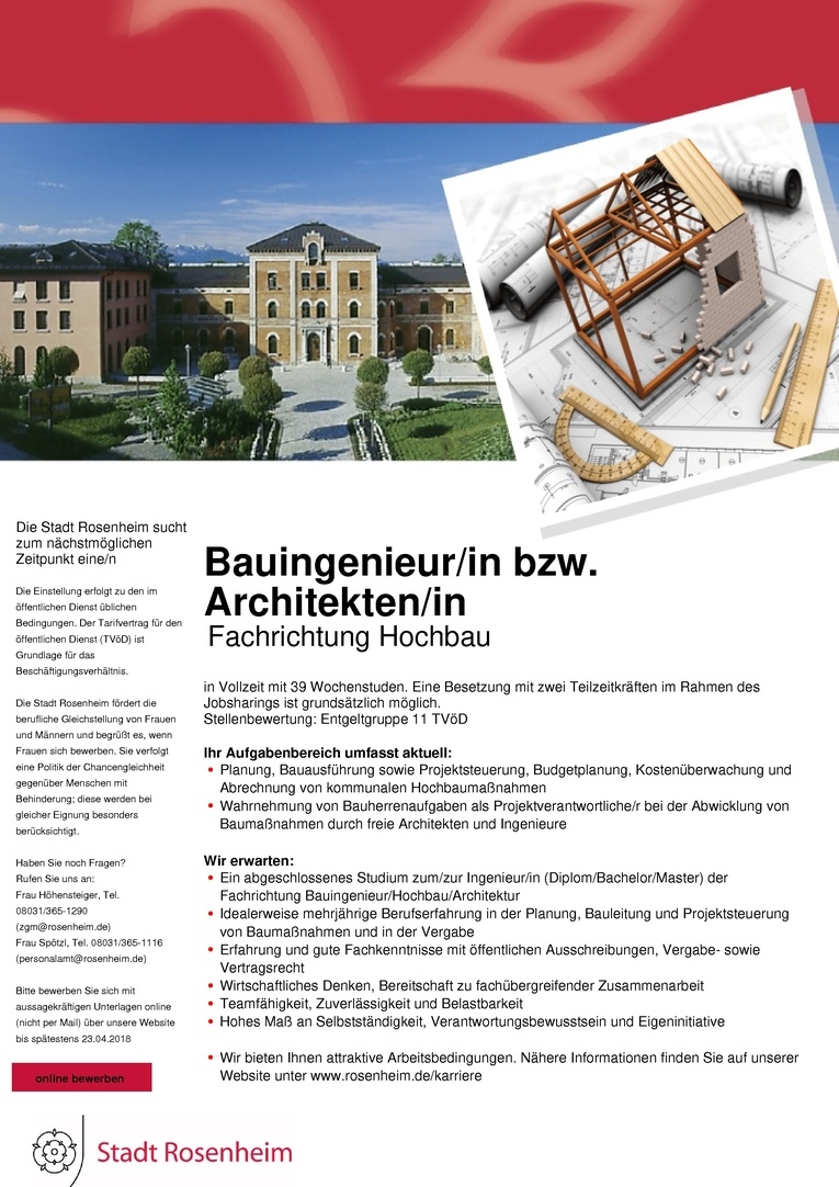 Architekten Rosenheim bauingenieur in bzw architekten in