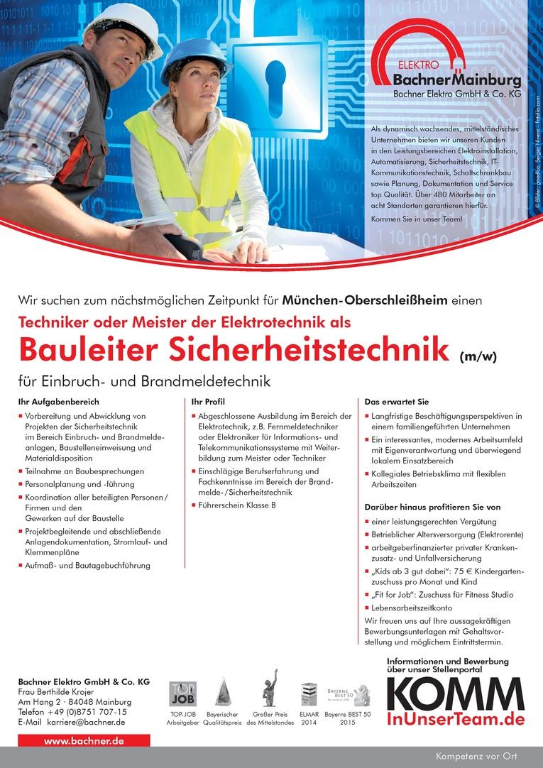 Bauleiter Sicherheitstechnik (m/w)