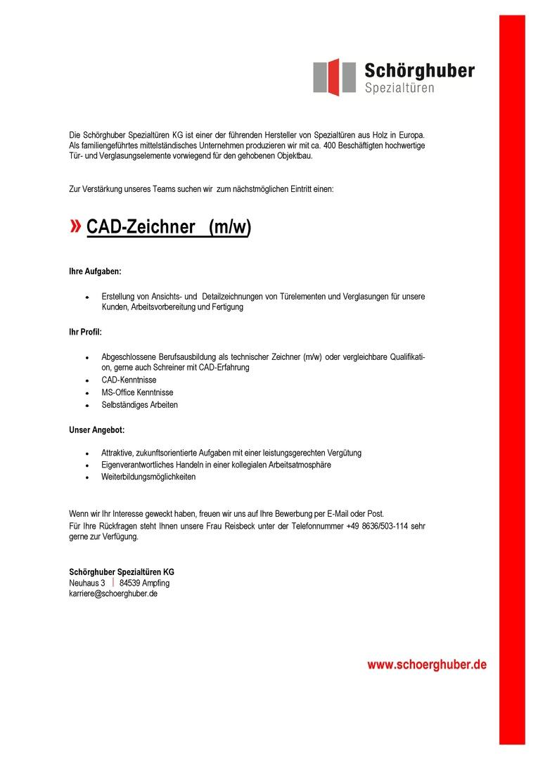 CAD Zeichner/in