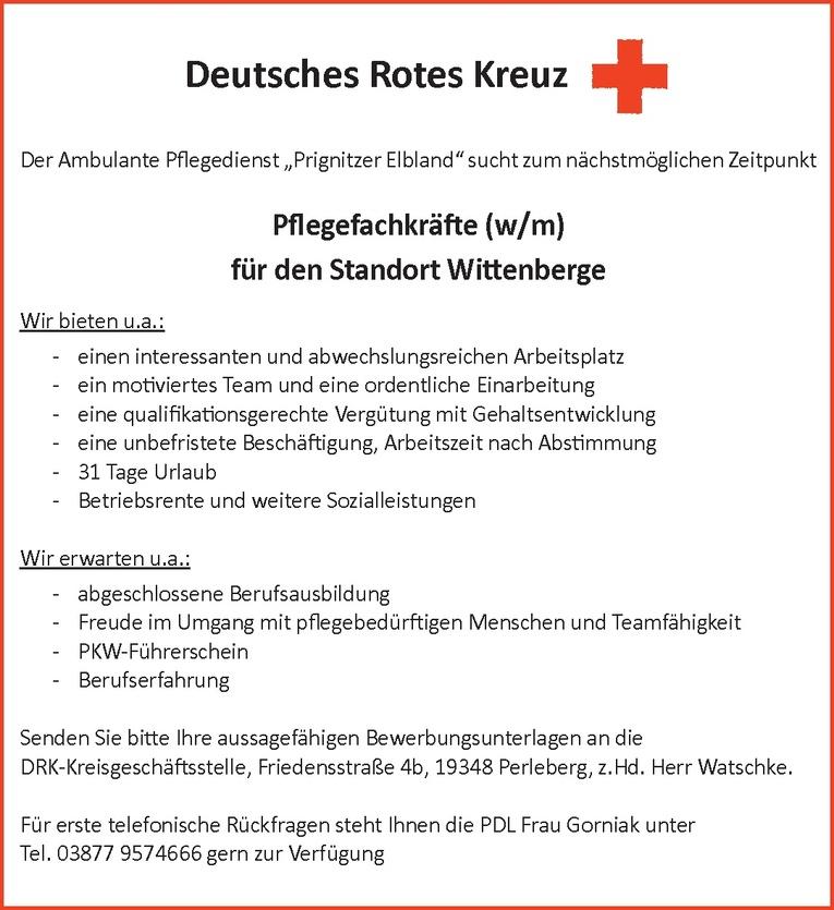 Pflegefachkräfte (w/m)
