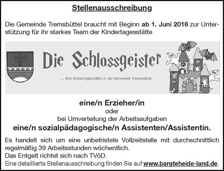 Erzieher/in / sozialpädagogische/n Assistenten/Assistentin