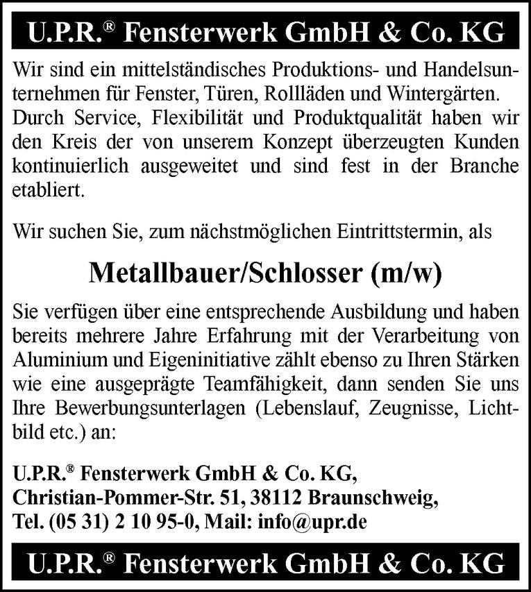 Metallbauer / Schlosser (m/w)