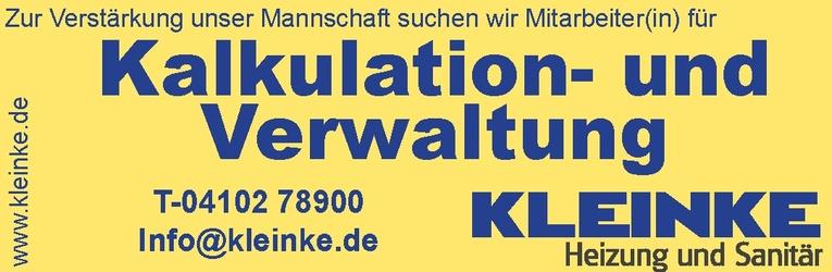 Mitarbeiter(in) für Kalkulation- und Verwaltung