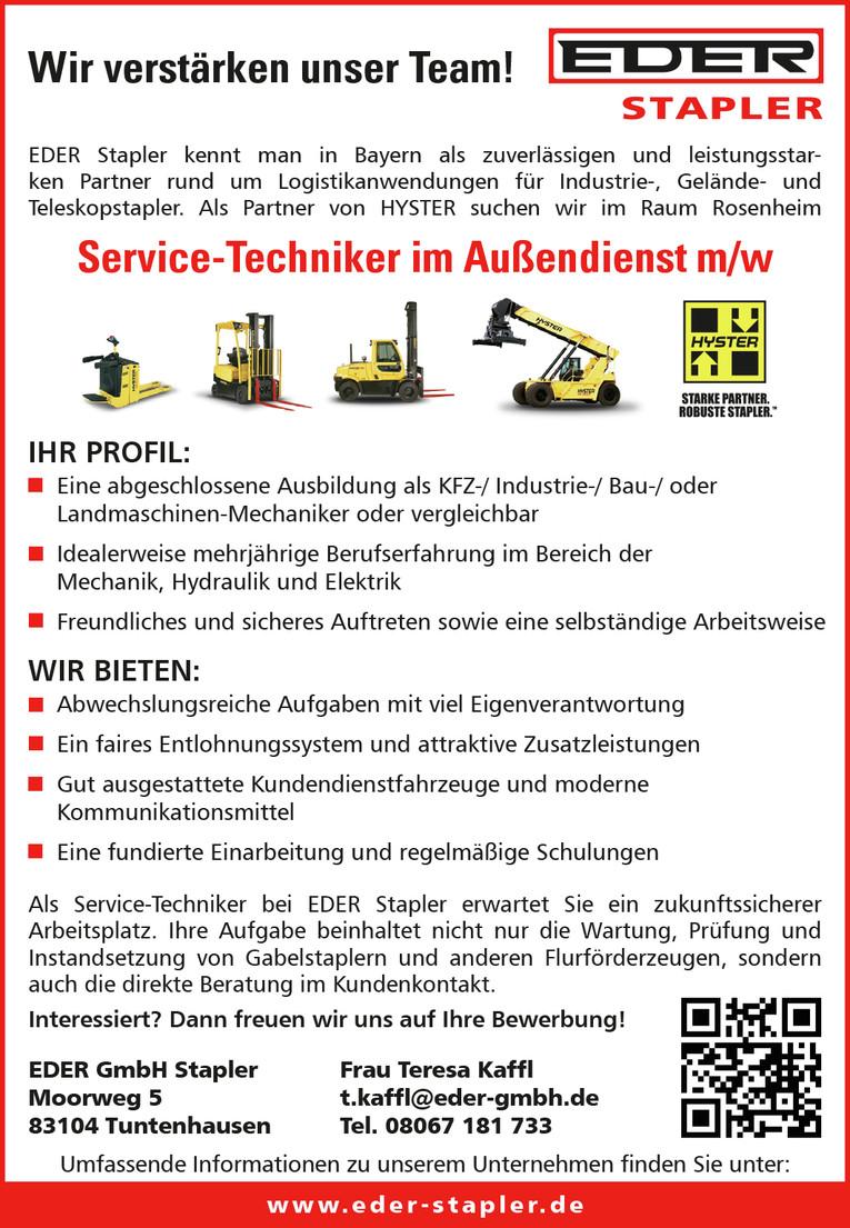 Service-Techniker im Außendienst (w/m)