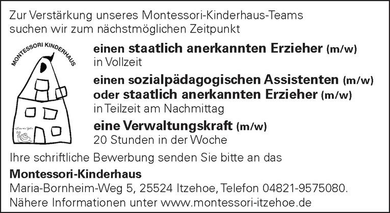 sozialpädagogischer Assistent (m/w) / staatlich anerkannter Erzieher (m/w)