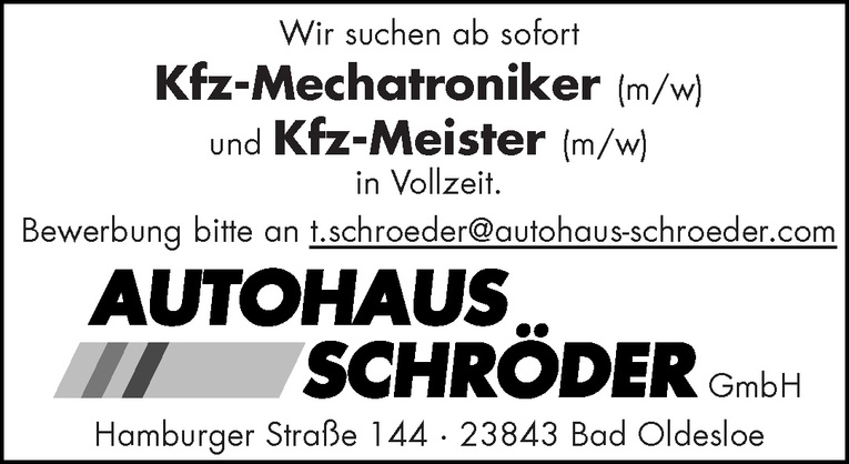 Kfz-Mechatroniker (m/w)