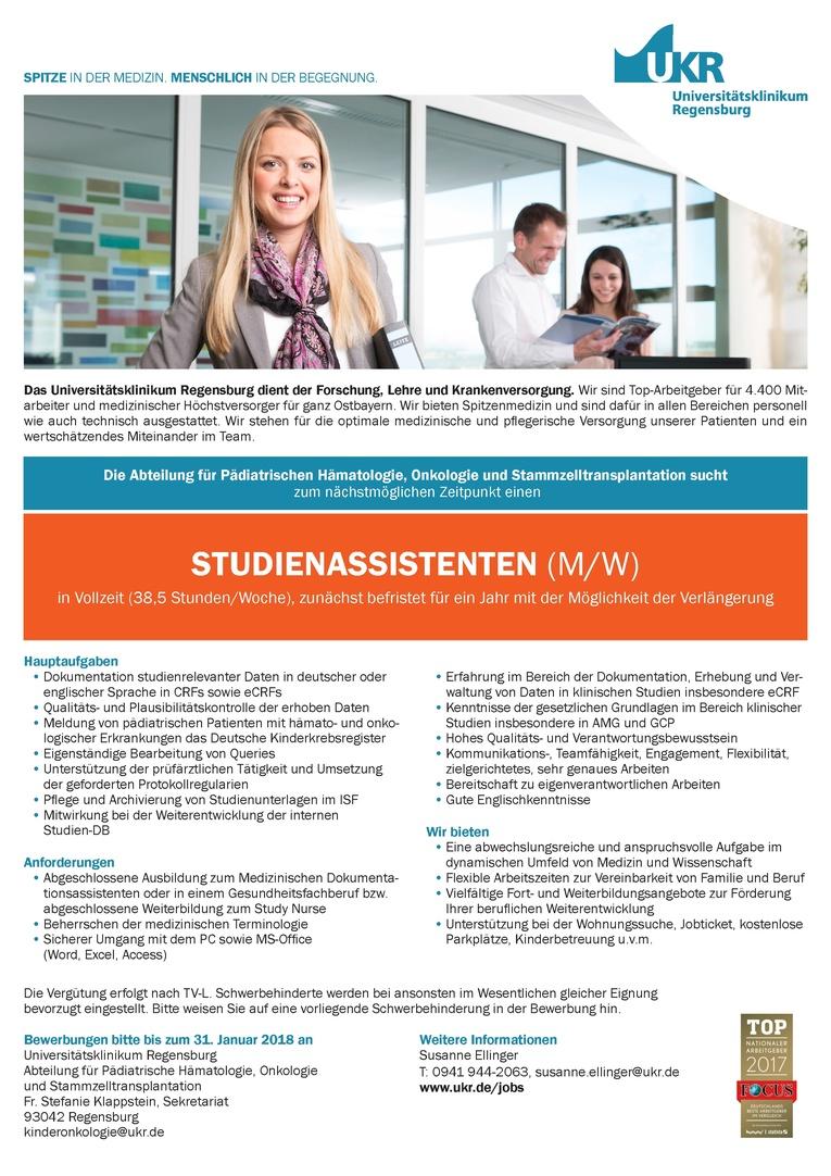 STUDIENASSISTENTEN (M/W)