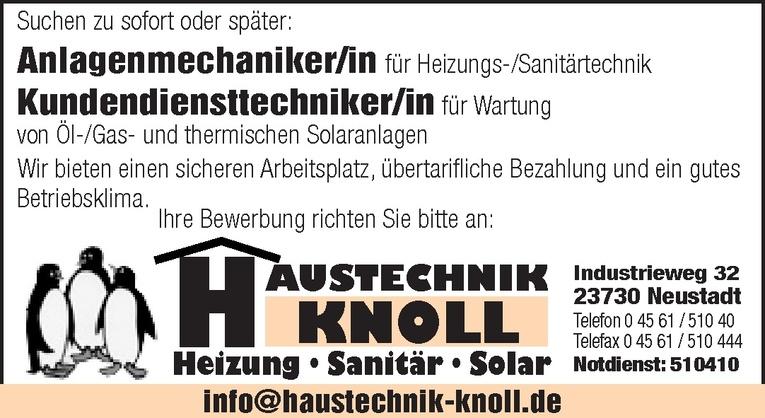 Anlagenmechaniker/in für Heizungs-/Sanitärtechnik