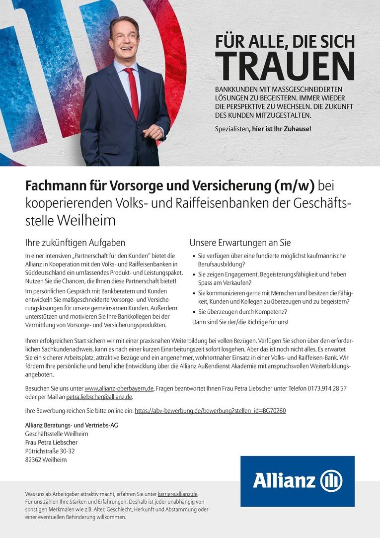 Fachmann/-frau für Vorsorge und Versicherung