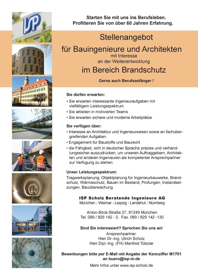 Bauingenieur/in oder Architekt/in für den Bereich Brandschutz