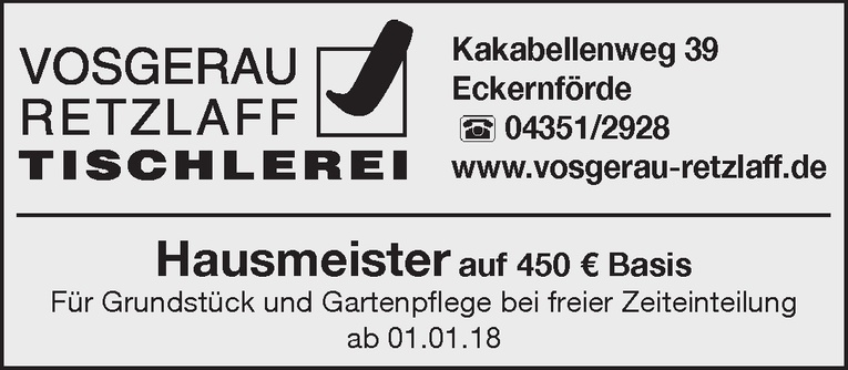 Hausmeister m/w