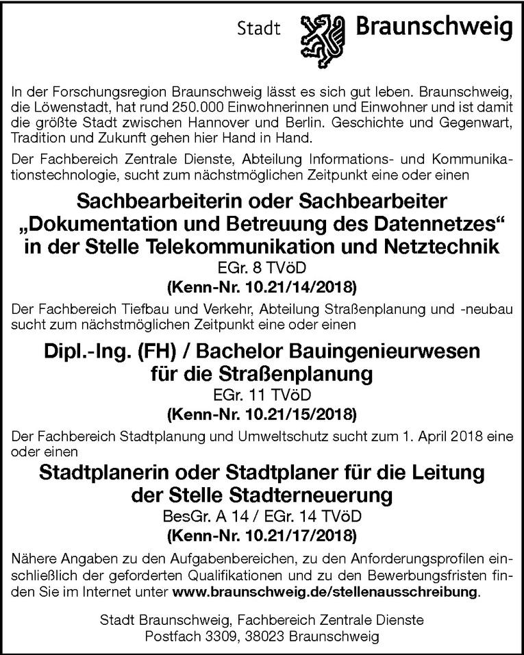 """Sachbearbeiter """"Dokumentation und Betreuung des Datennetzes"""" (m/w)"""