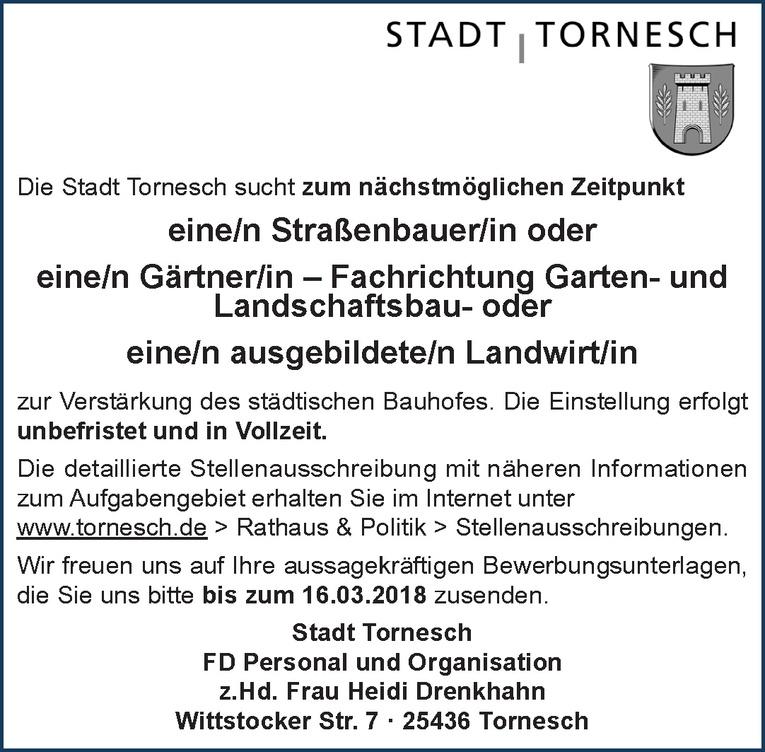 Straßenbauer / Gärtner / Landwirt (m/w)