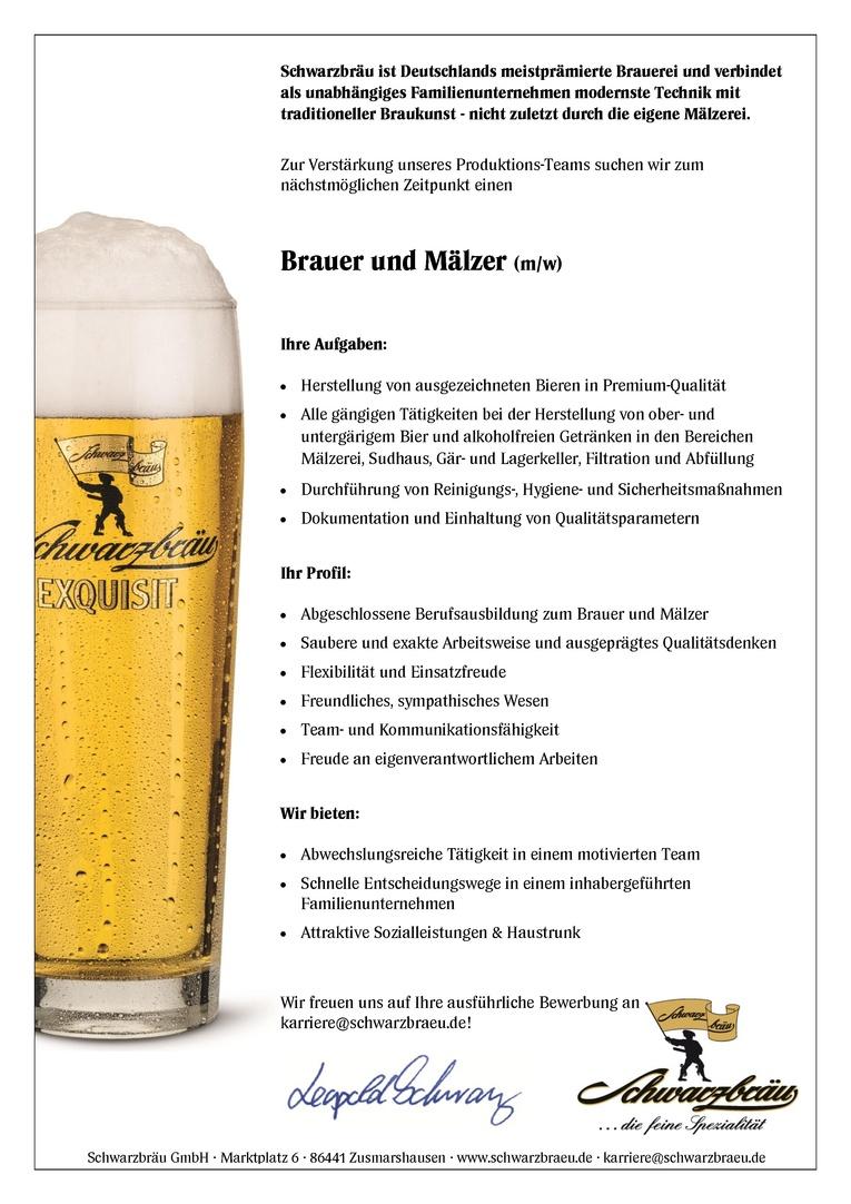Brauer und Mälzer (m/w)
