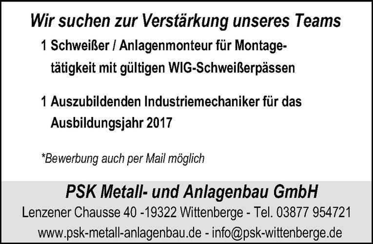 Schweißer / Anlagenmonteur