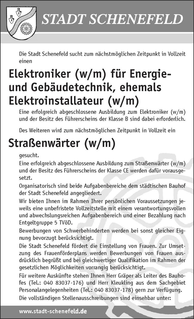 Elektroniker (w/m) für Energie- und Gebäudetechnik