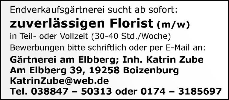Florist (m/w)