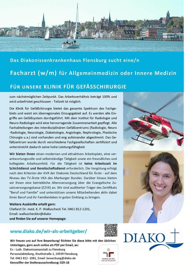 Facharzt (w/m) für Allgemeinmedizin oder Innere Medizin