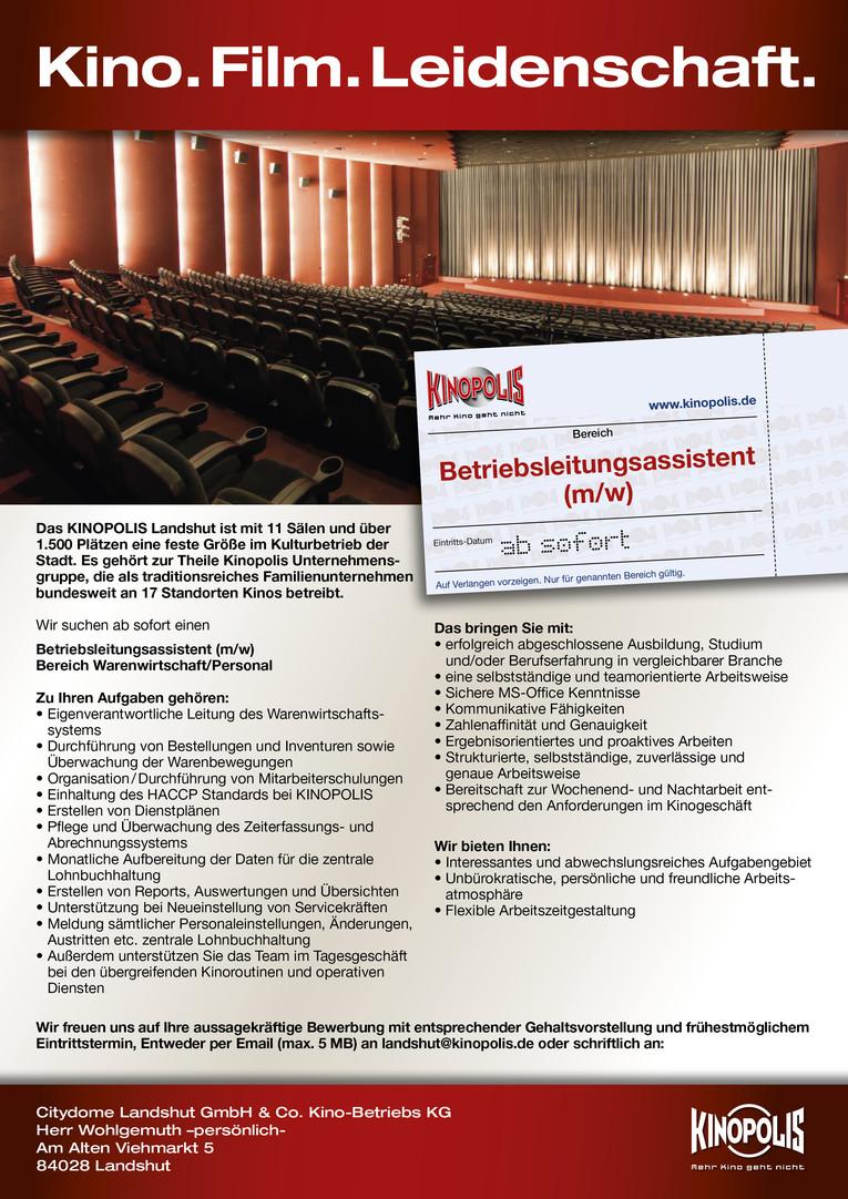 Betriebsleitungsassistent (m/w) Bereich Warenwirtschaft / Personal