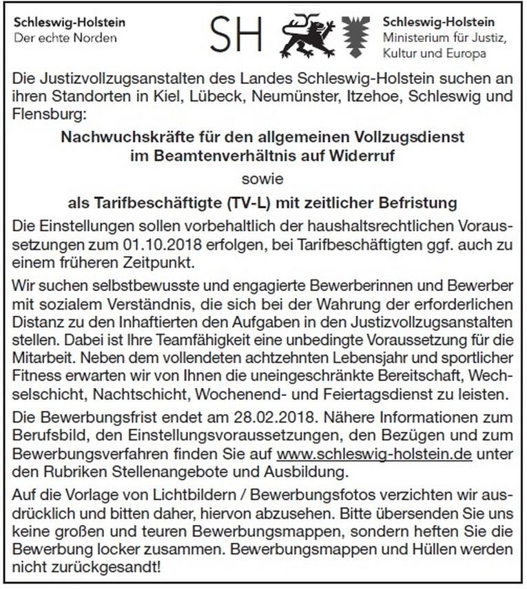 Nachwuchskräfte für den allgemeinen Vollzugsdienst im Beamtenverhältnis auf Widerruf sowie als Tarifbeschäftigte (TV-L) mit zeitlicher Befristung