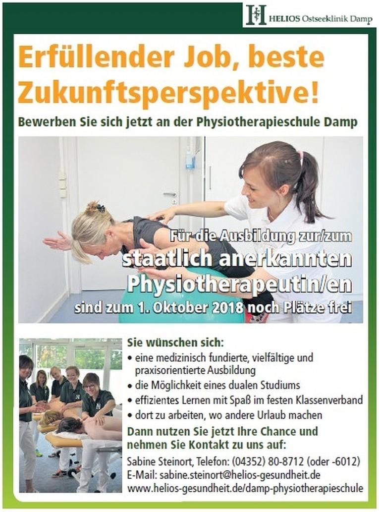 Ausbildung - staatlich anerkannte Physiotherapeuten