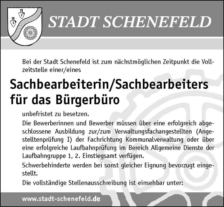 Sachbearbeiterin/Sachbearbeiters