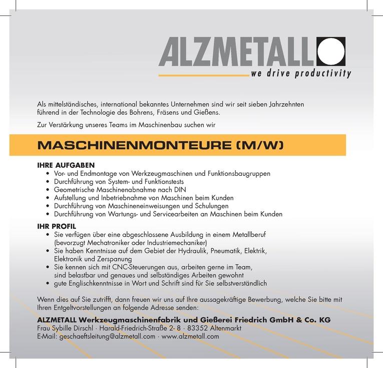 MASCHINENMONTEURE (m/w)