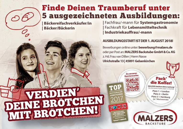 Ausbildung zum/zur Bäcker/-in