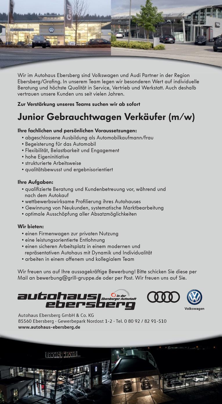 Gebrauchtwagen - Juniorverkäufer/in