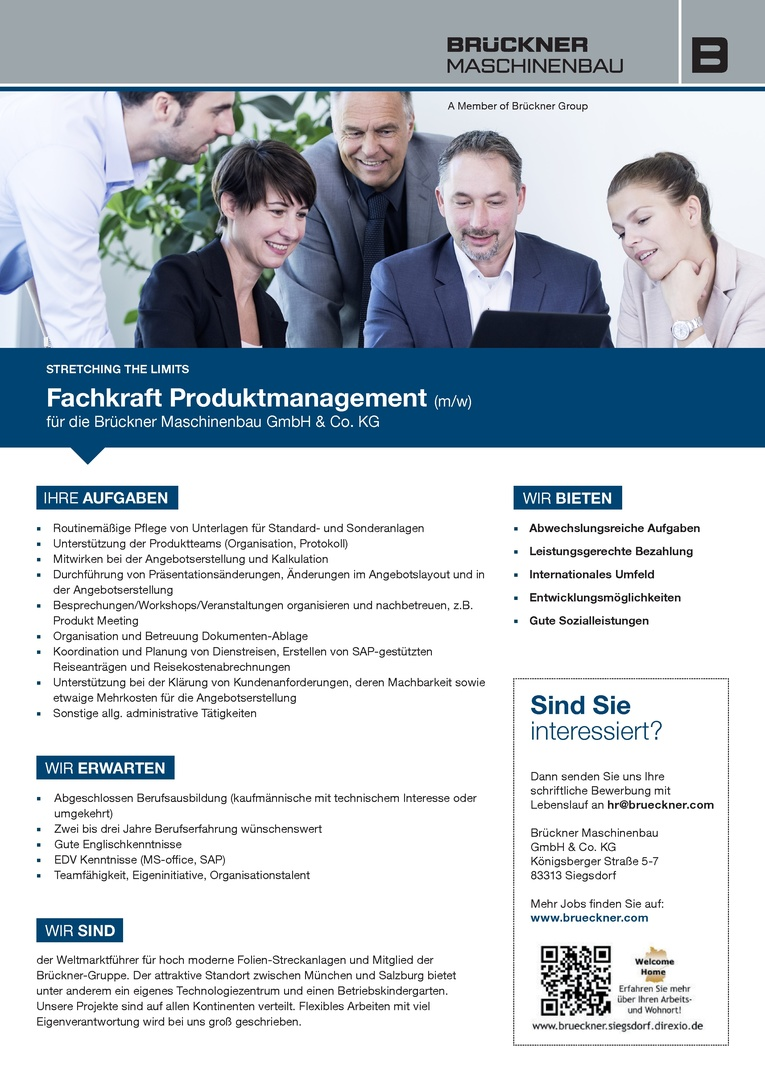Fachkraft Produktmanagement (m/w)