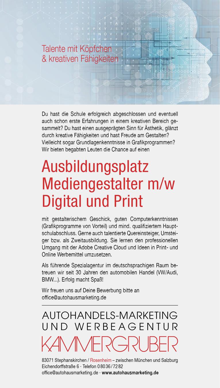 Job Ausbildungsplatz Mediengestalter Mw Digital Und Print