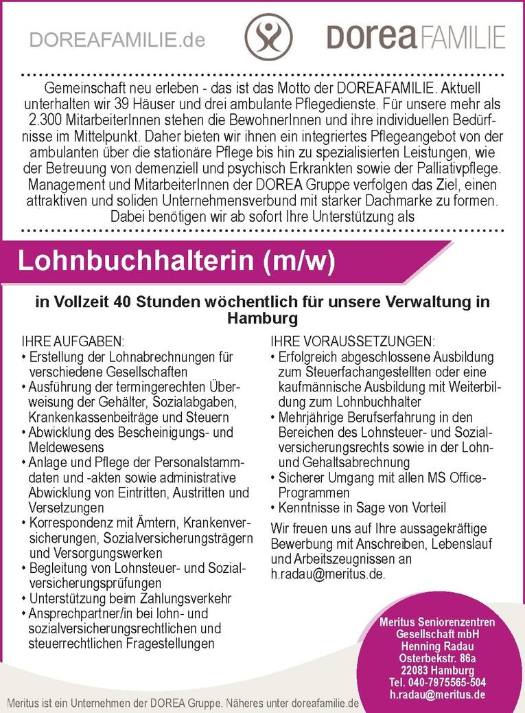 Lohnbuchhalterin (m/w)