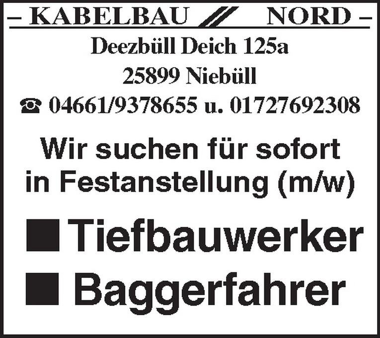 Baggerfahrer (m/w)