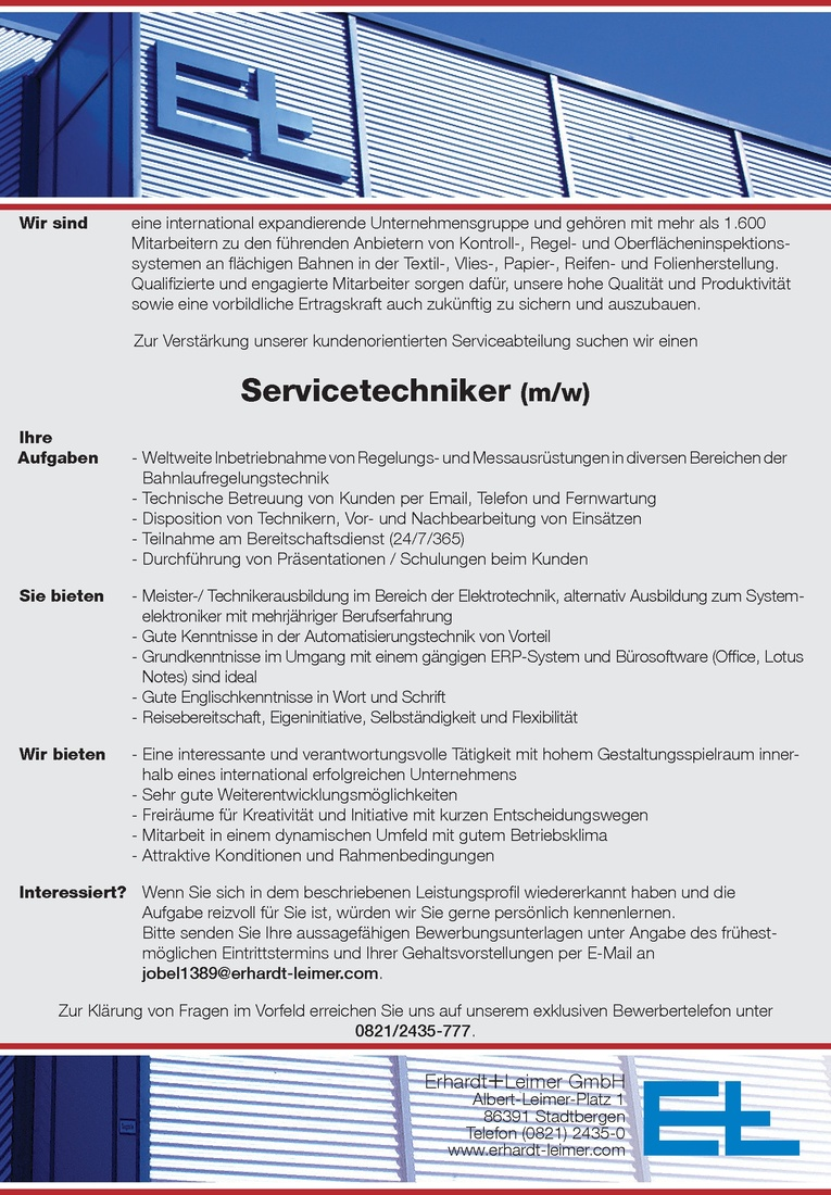 Servicetechniker (m/w)