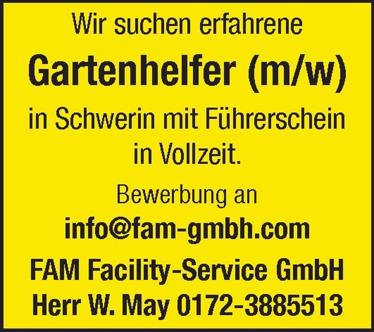 Gartenhelfer (m/w)