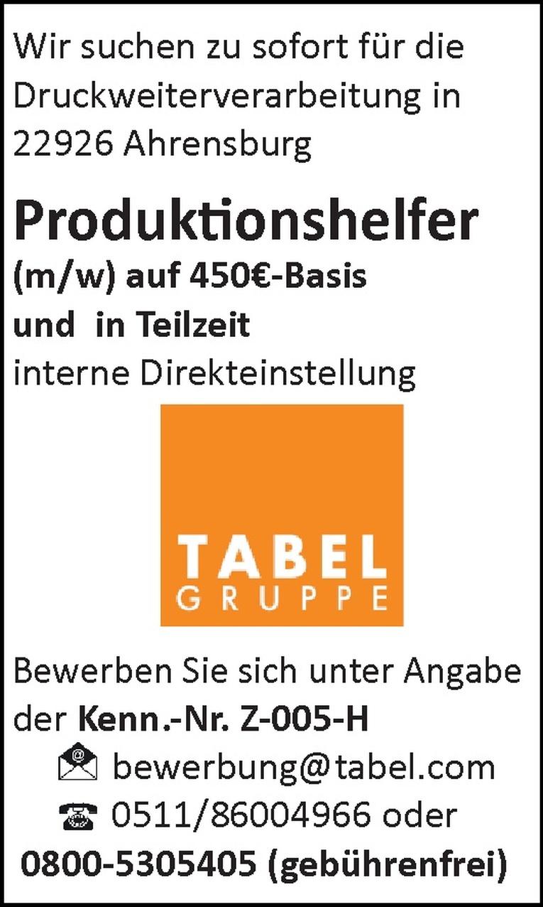 Produktionshelfer (m/w)