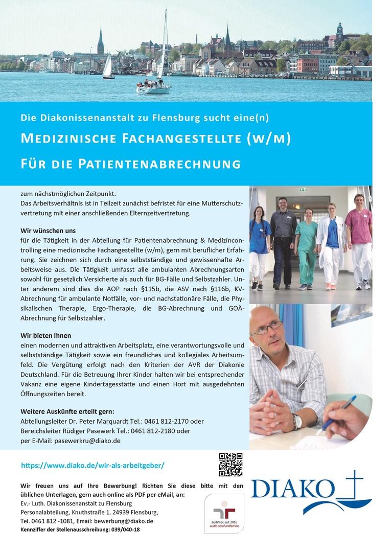 Medizinische Fachangestellte (w/m) für die Patientenabrechnung
